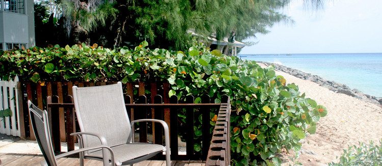St James Villa Beach Deck View
